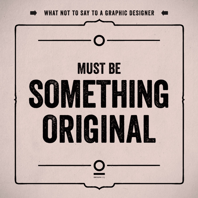 What not to say to a graphic designer 11