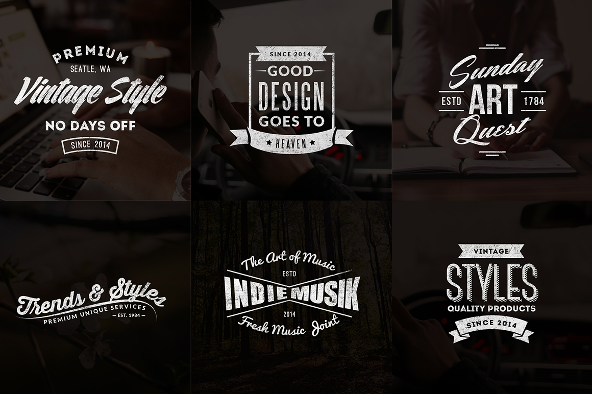 Vintage Logos - Labels Templates - preview