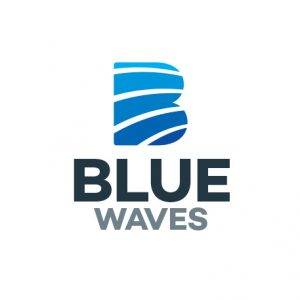 Blue Waves – B Letter Logo