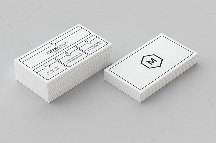 minimal business card 3
