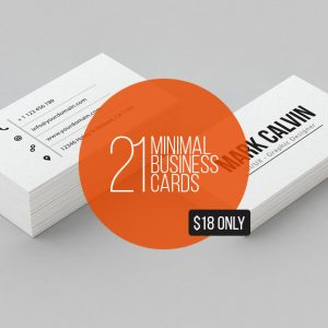 21 Minimal Business Cards Bundle