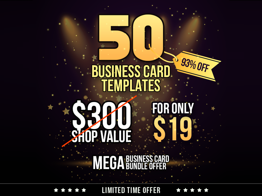 Creative business card bundle 50 in 1 graphic pick creative business card bundle 50 in 1 reheart Images
