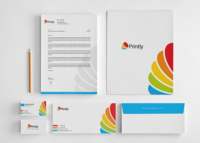 Printly corporate stationery design set graphic pick printly corporate stationery design set accmission Images
