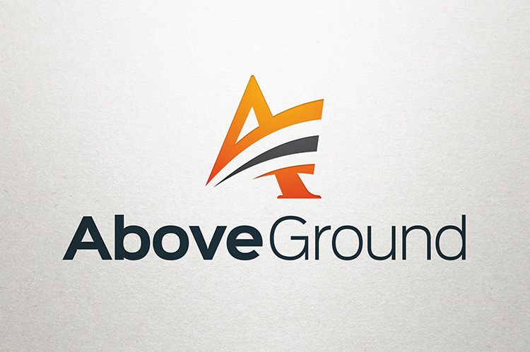 Above Ground Letter A Logo Graphic Pick