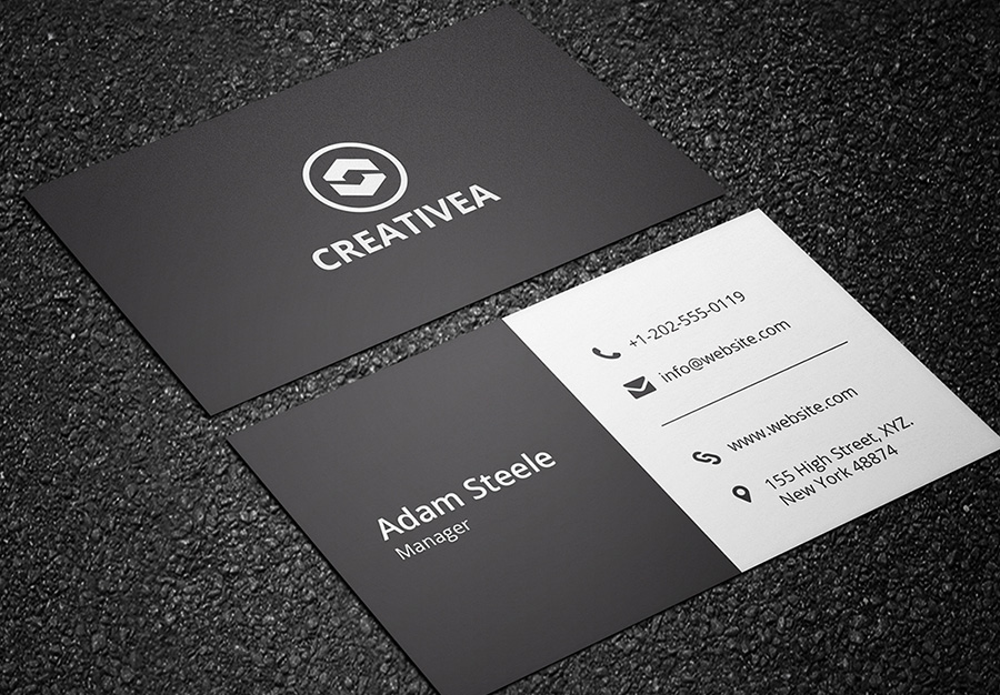 black and white business card 01