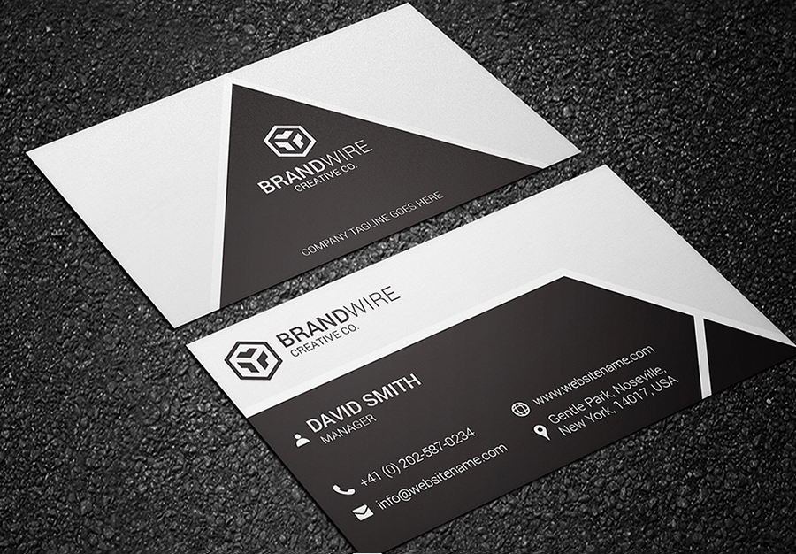 black and white business card 02