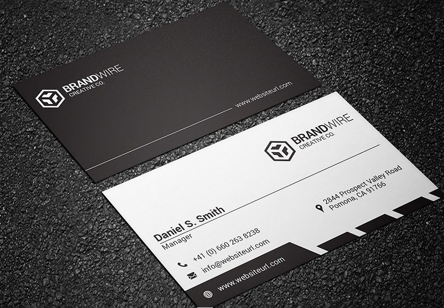 black and white business card 03