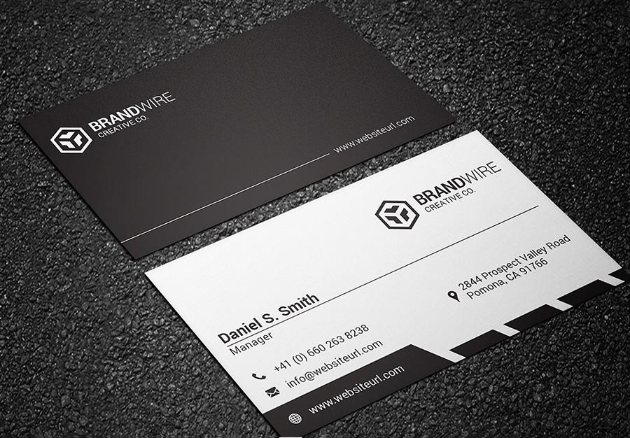 Black white business card bundle graphic pick black and white business card 03 colourmoves