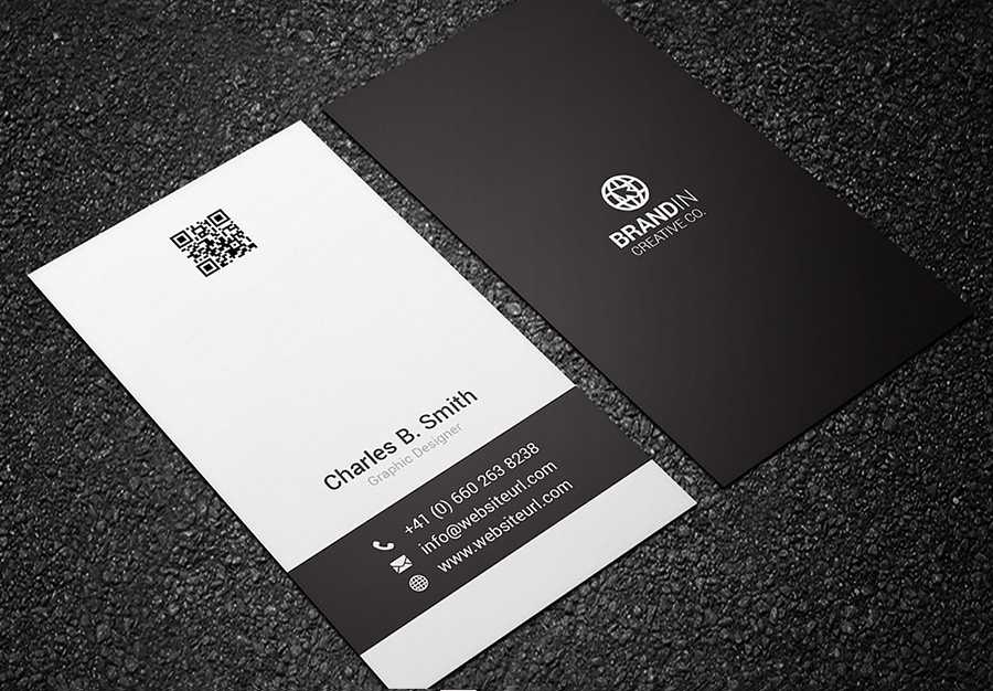 black and white business card 04
