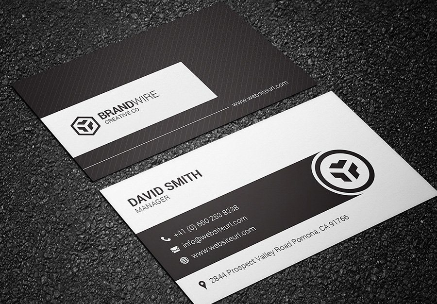 black and white business card 05