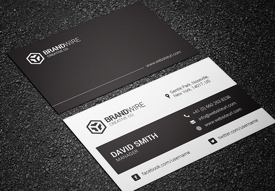 black and white business card 06