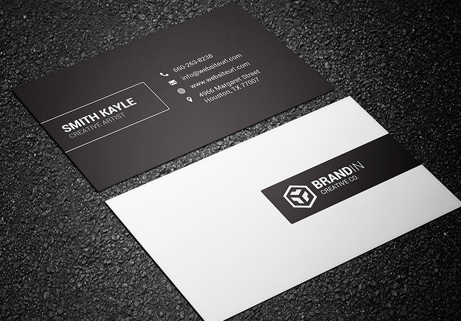 black and white business card 07