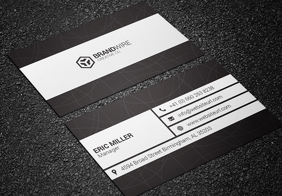 black and white business card 08