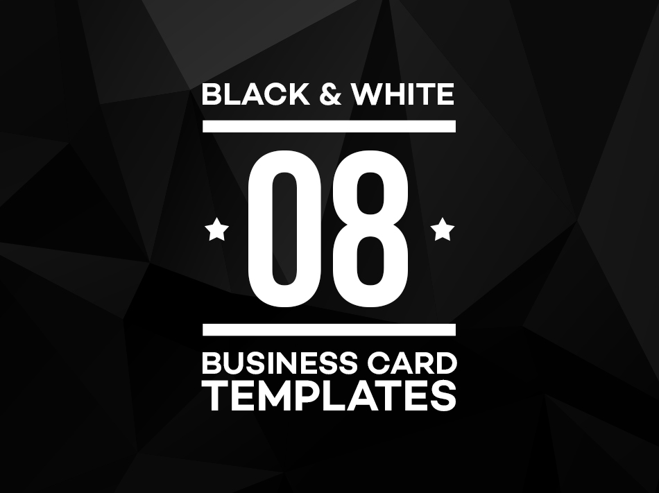 black and white business card feature