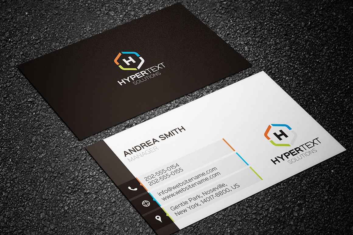 Creative business card 02 graphic pick creative corporate business card is a modern and professional print template for company or business files are fully editable all elements are in high reheart Image collections