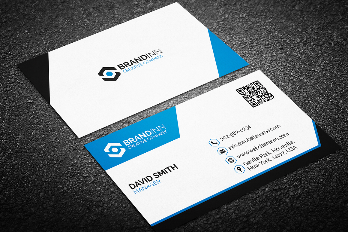 Custom Card Template buisness cards : clean business card Archives - Graphic Pick