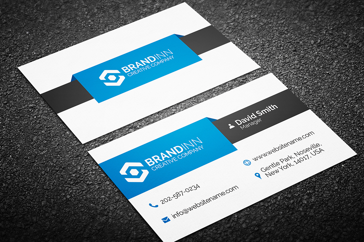 Simple Creative Business Card Template Graphic Pick - Template of business card