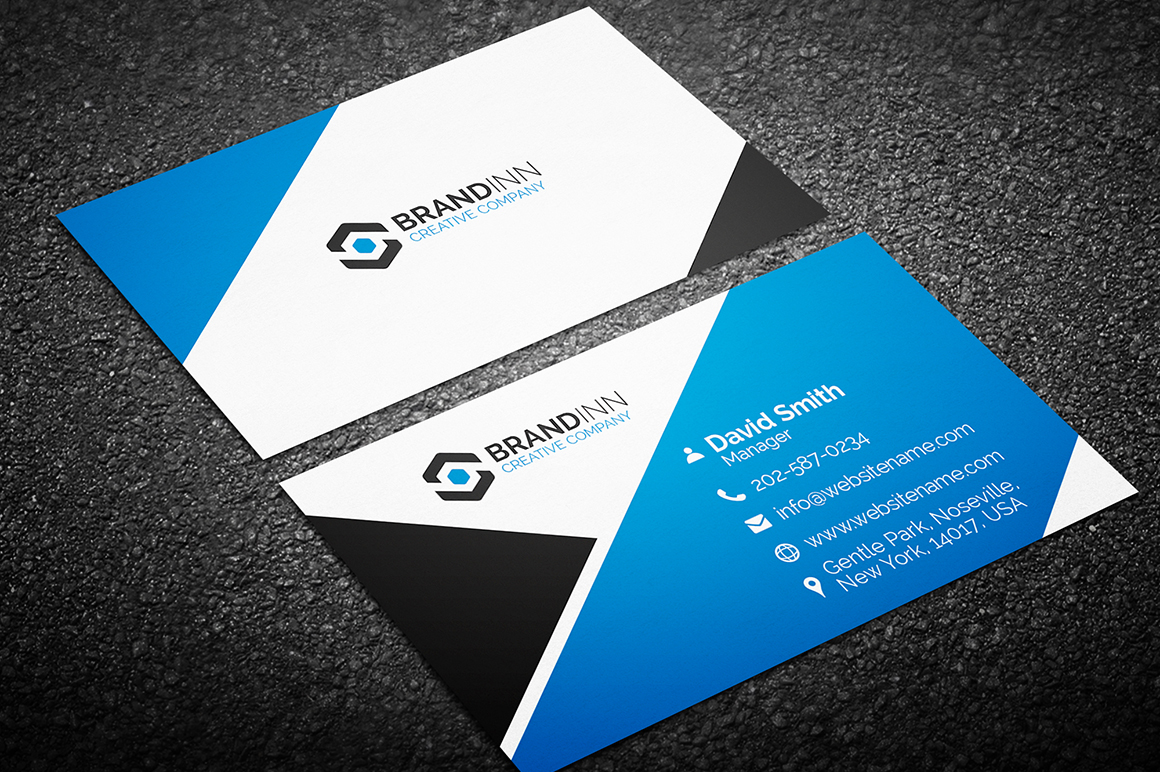Creative corporate business card 11 graphic pick creative corporate business card is a modern and professional print template for company or business files are fully editable all elements are in high cheaphphosting Images