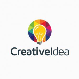 Creative Idea Bulb Logo