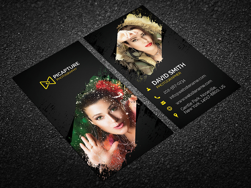 Photography business card 09 graphic pick photography business card is a modern and professional print template for photographers photo studio and photography company files are fully editable reheart Choice Image