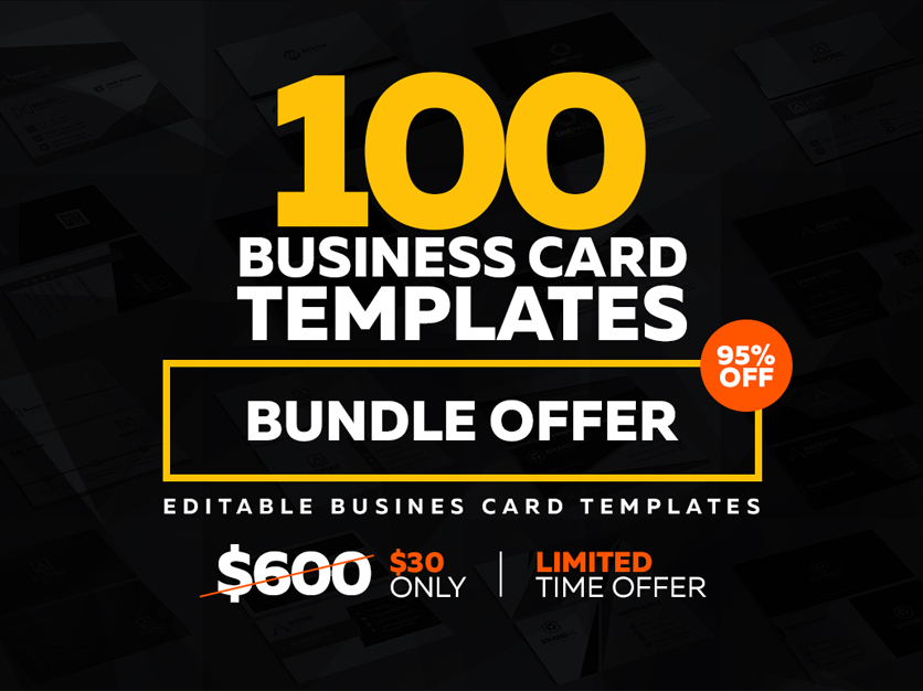 100 business card bundle 1