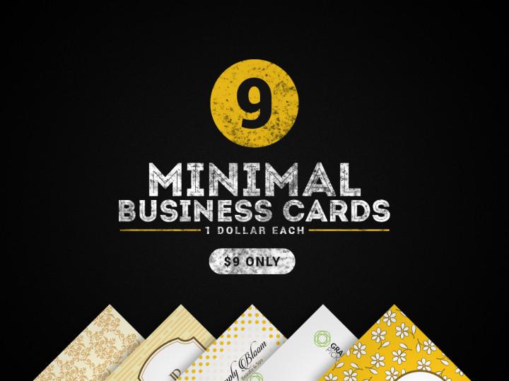 9 minimal business cards