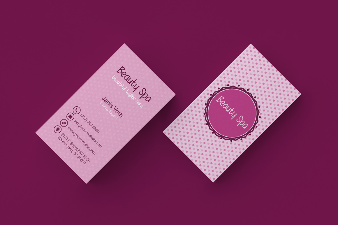 beauty spa business card