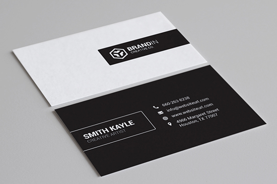 black and white business card 62