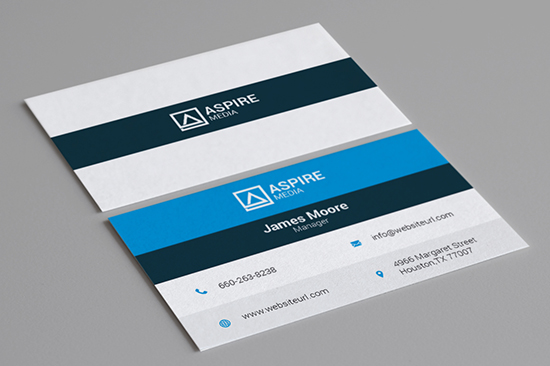 blue business card 98