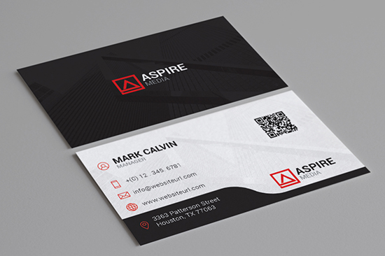 clean corporate business card 86