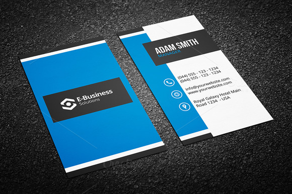 blue visiting card design