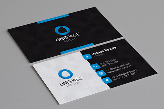 Modern Business Cards Bundle Graphic Pick - Business card template pages