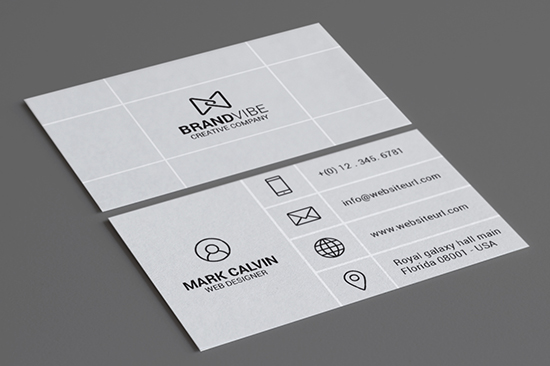 creative flat business card 73-1