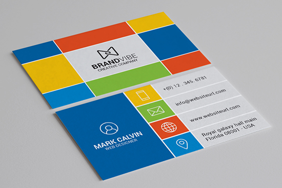 creative flat business card 73