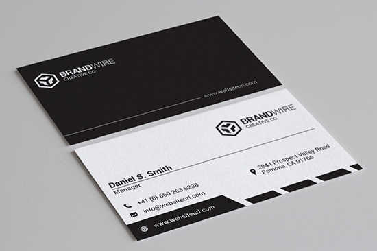 minimal black and white business card 69