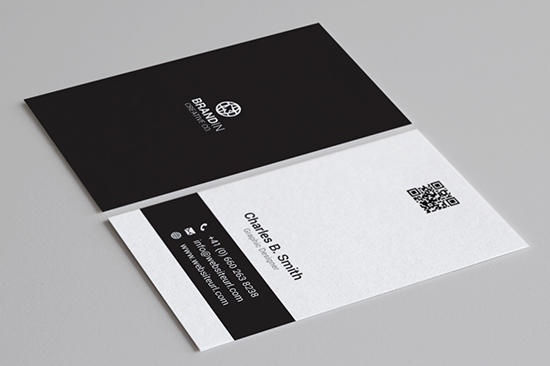minimal black & white business card 64