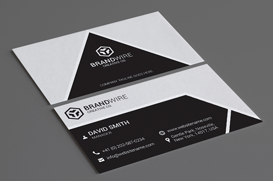 minimal black & white business card 66