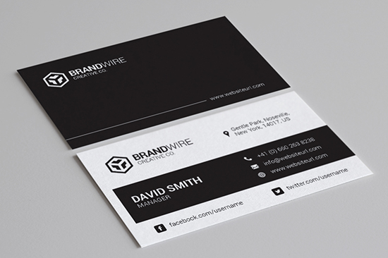 minimal black & white business card 68