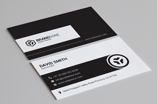 minimal black & white business card 70
