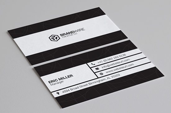 minimal black & white business card 71