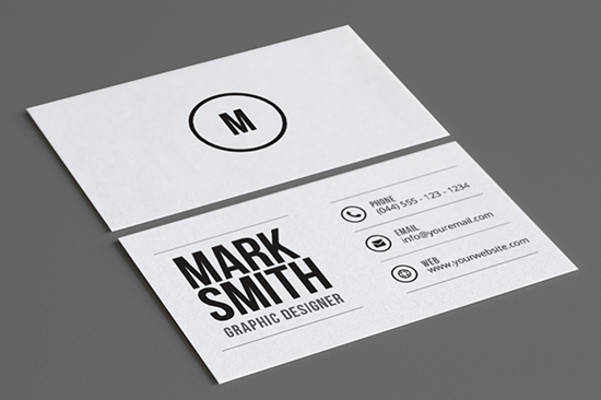 minimal business card 43