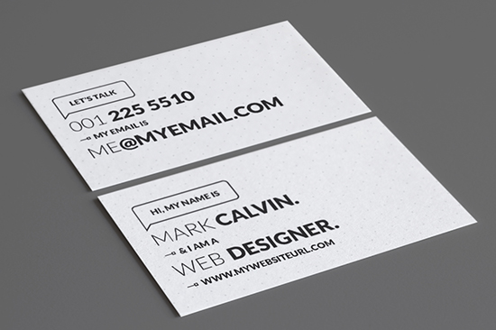 minimal business card 48