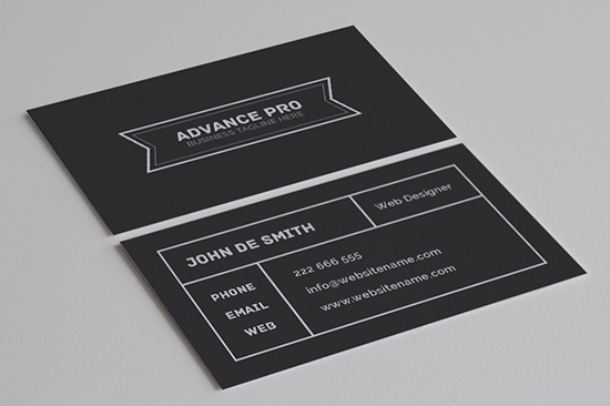 minimal business card 54-1