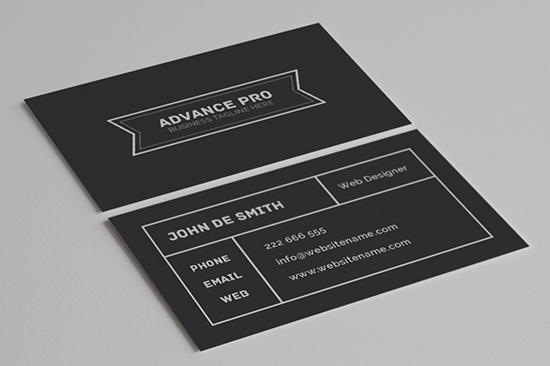 minimal business card 54-1