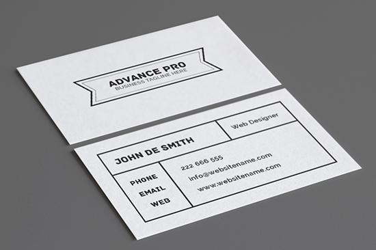 minimal business card 54