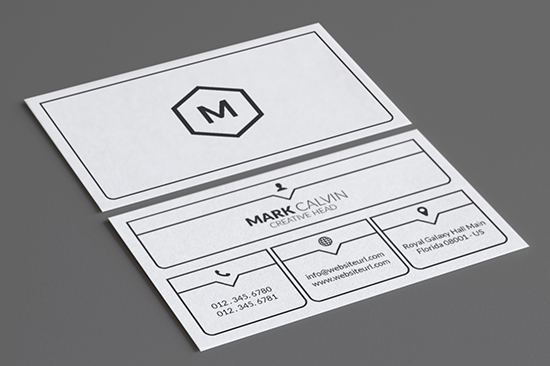 minimal business card template 45