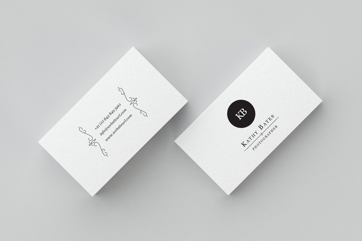 minimal photography business card 004