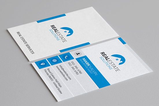 Real Estate Business Cards Graphic Pick - Real estate business card template
