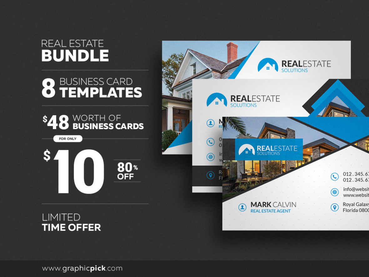 Creative Real Estate Business Card Business Card Templates. Real ...