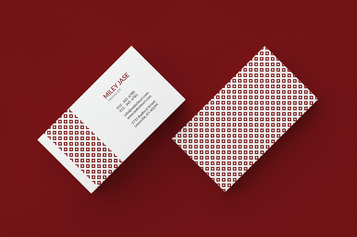 retro vintage minimal business card